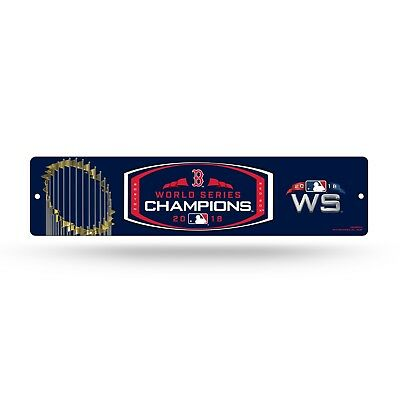 BOSTON RED SOX WORLD SERIES CHAMPIONS 2018 PLASTIC STREET SIGN 4