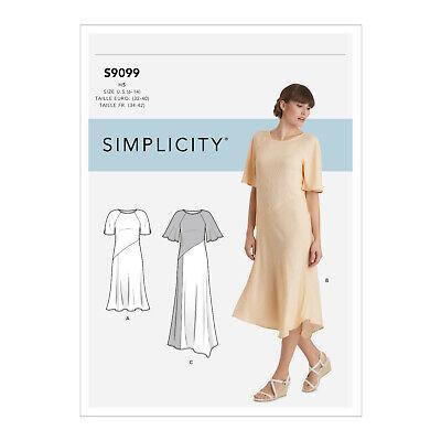 Simplicity Schnitt Nr 9099.U5 Fließendes Sommerkleid Gr. 42 - 50