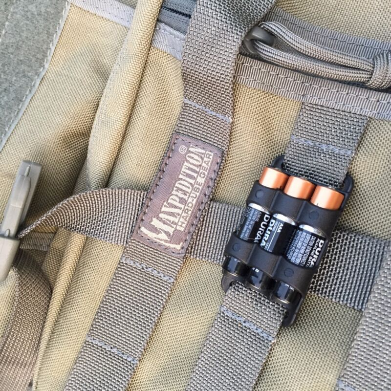 Spare Battery Holder AAA for Headlamp Etc. Extra Batteries at the Ready 2 Pack!