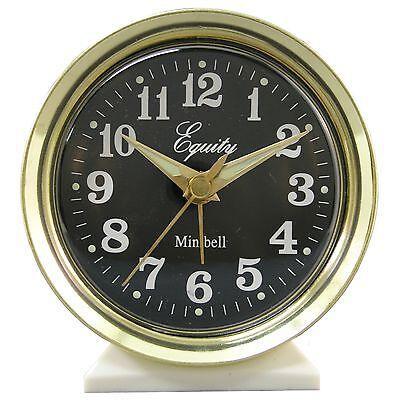 12020 Equity by La Crosse Wind-Up Bell Brass Metal Case Analog Alarm Clock