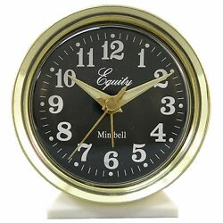 12020 Equity by La Crosse Wind-Up Bell Brass Metal Case Analog Alarm Clock