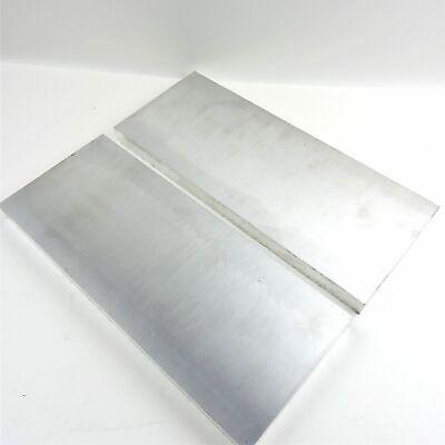 .75 Thick 34 Aluminum 6061 Plate 5.1875 X 17.875 Long Qty 2 Sku 175533