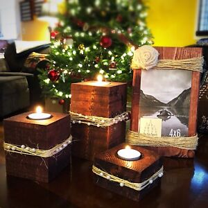 Locally Handmade Christmas Gift Sets & Candle Holders
