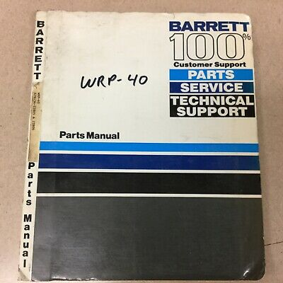Barrett Wrp-40 Pallet Walkie Parts Manual Book Catalog List Forklift Truck Guide