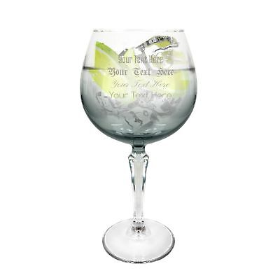 Ginsanity Personalised Speakeasy Platinum coloured Gin Cocktail Glass Grey 585ml