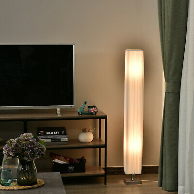 HOMCOM 4' Tall Floor Lamp Modern Fabric Light Living Room w/