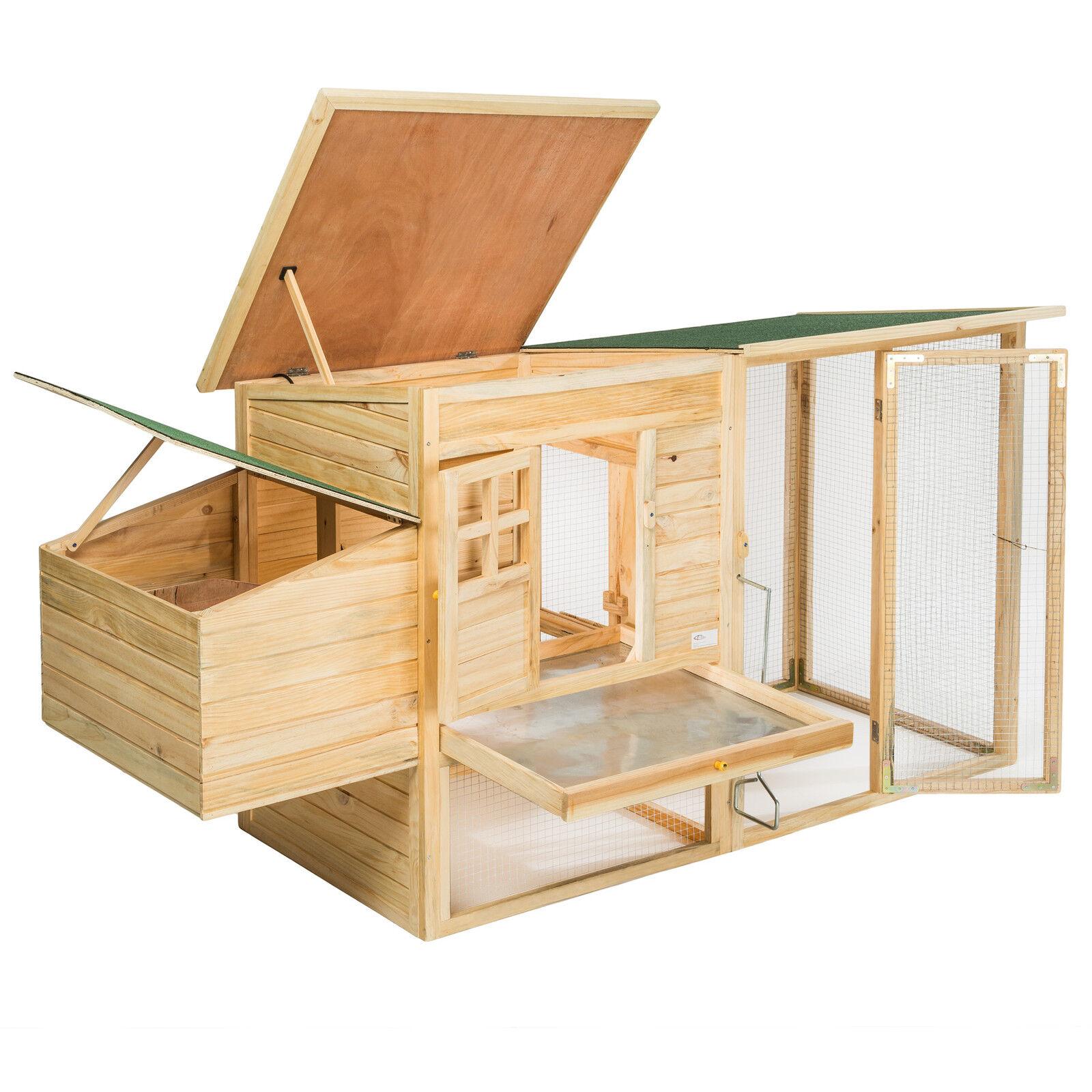 poulailler cage poules xxl clapier pour petits animaux rongeurs leveur bois eur 122 90. Black Bedroom Furniture Sets. Home Design Ideas
