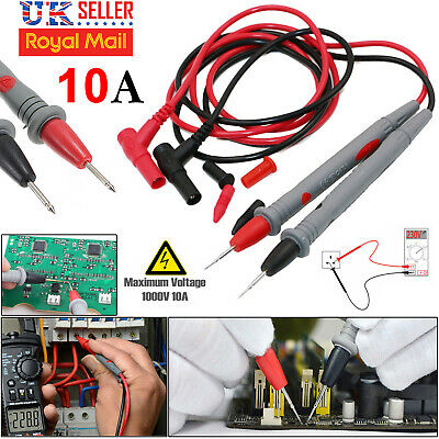 10A Digital Multimeter Test Leads New Best Quality Probes Volt Meter Cable