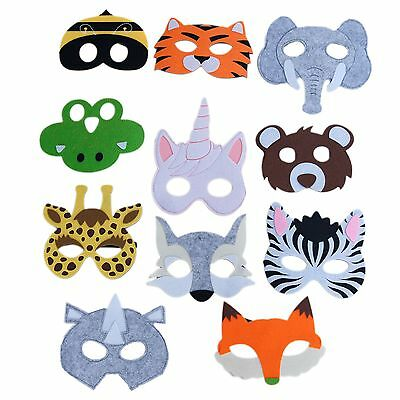 Animal Masks (Animal Masks For Children Party Favor Zoo Safari Party Dress Up- Lot)