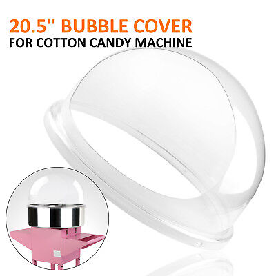 Candy Floss Machine Cover Dome Opening Cotton Candy Maker Clear Bubble 20.5 Us