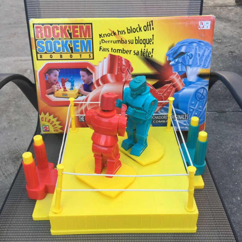 2001 Mattel Classics Rock'em Shock'em Robots With Box