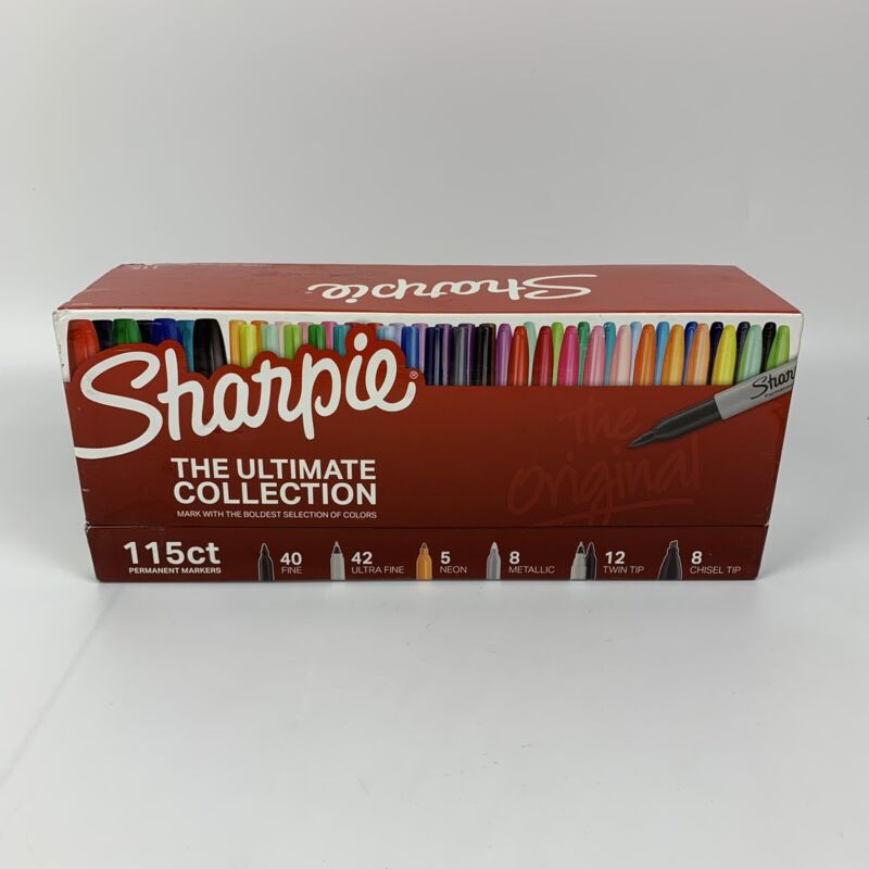 Sharpie Permanent Markers Ultimate Collection Assorted Tips 16 Assorted Colors