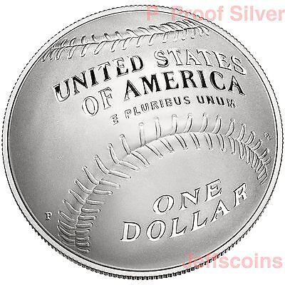 2014 P National Baseball Hall of Fame 90% Silver Proof Dollar USMint Box COA B33