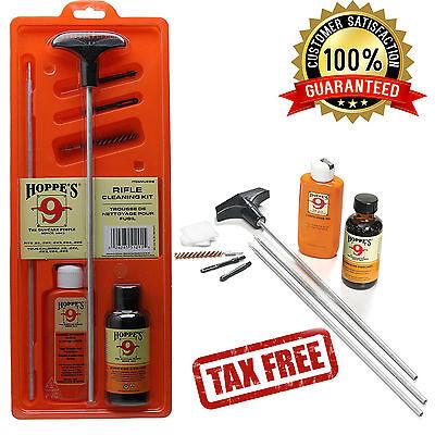 Hoppe's Pistol Gun Rifle Cleaning Kit For.22-.255.caliber Aluminum Rod Oil Brush