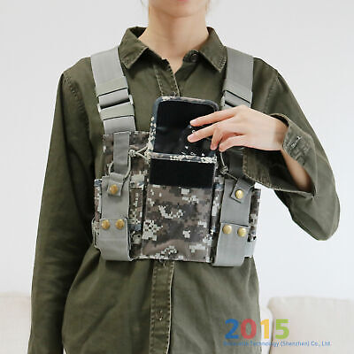 Chest Harness Bag Front Pack Pouch Holster Vest Rig For Baofeng  two way radio