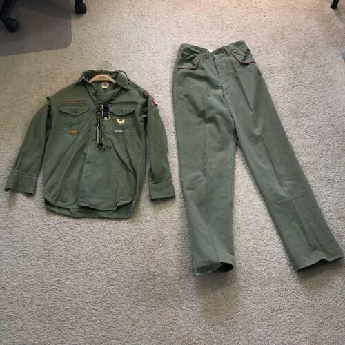 Vintage Boy Scouts Of America Green Explorer Shirt & Pants Camp Meriwether OR