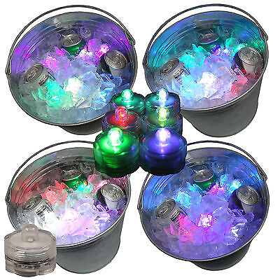 Rave Led Lights (Rave Beer Ice Bucket Bright Glow LED Lights Submersible Party 12 Color)