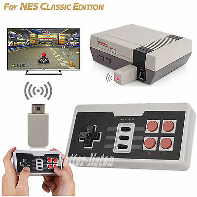 Wireless Gamepad Controller With Receiver For Nintendo Nes Classic Mini Console