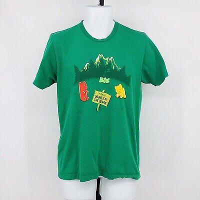 Shirt Woot! Graphic Tee Shirt PLEASE DO NOT EAT THE BEARS Gummy Green Medium - Green Gummy Bears