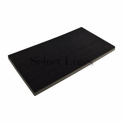 New Black 72 Slot Ring Foam Pad Tray Jewelry Display