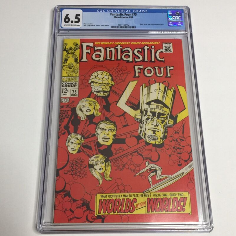 Fantastic Four #75 Marvel CGC 6.5 (1968) Classic Cover by Jack Kirby