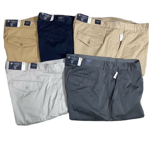 Cremieux Mens Madison Khaki Chino Shorts 10″  44 46 50 Big and Tall Flat Front Clothing, Shoes & Accessories