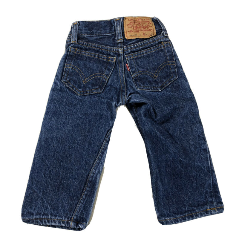 Vintage 1970s Levi's Jeans 302 0117 Baby Toddler Dark Wash Denim 18x13