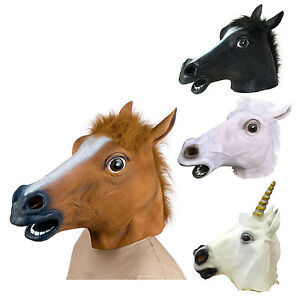 Horse-Head-Rubber-Latex-Panto-Creepy-Fancy-Dress-Mask-Costume-Halloween