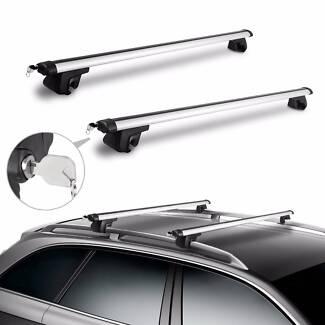 1200mm Top Car Roof Rack Cross Bar Aluminum Lockable Aerodynamic