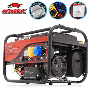 3.5kVA 2.5kW 2500w 6.5HP 110v 230v PETROL ELECTRIC SINGLE PHASE POWER GENERATOR