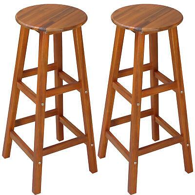 2x Taburetes de Bar Barra altos de madera de acacia para salón...