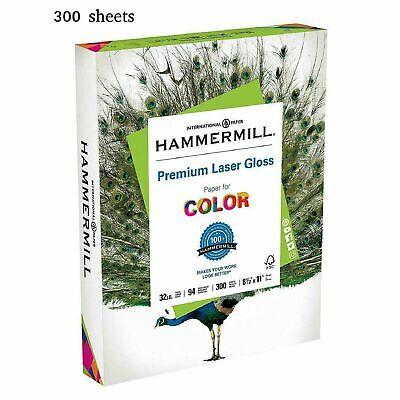 Glossy Photo Paper Letter Size Premium Laser Inkjet 300 Sheets 8.5x11 Acid Free