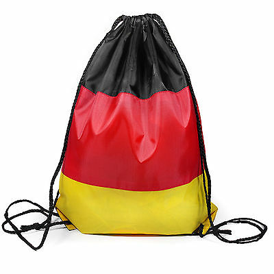 German Flag Gymsac Drawstring Bag Rucksack Germany Deutschland (German Flag Bag)