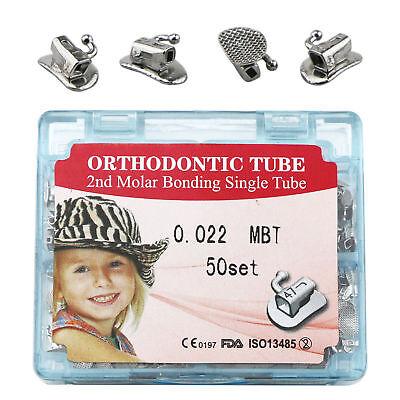 Dental Orthodontic Split Buccal Tube 2nd Molar Bonding 022 Mbt 50 Setbox Single