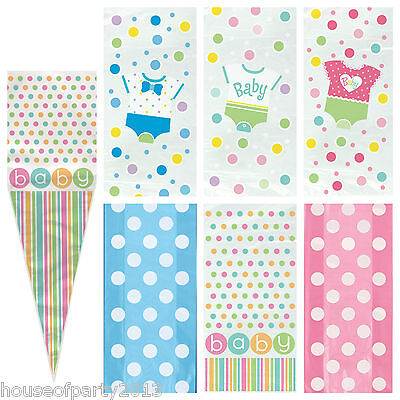Baby Shower Party Gift Cello Bags great for favours Boy Girl Neutral Polka dot ](Gift Bags For Baby Shower Favors)