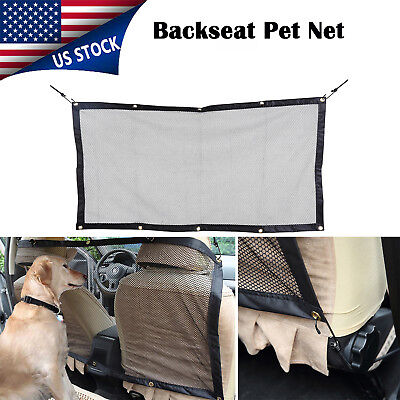 "Vehicle Travel Pet Dog Car Back Seat Net Mesh Barrier Backseat Storage 45''x 24"""