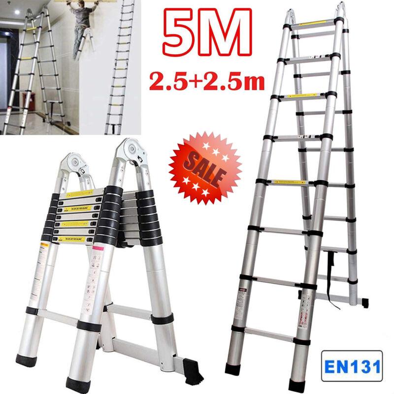 16.5FT Aluminum Multi-Purpose Telescopic Ladder Extension Foldable Folding