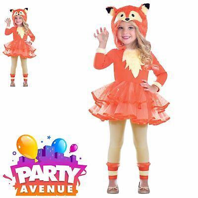 Girls Toddler Fox Animal Hooded Tutu Fancy Dress Up Costume  ()