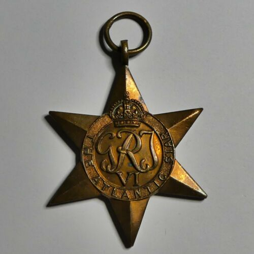 Vintage original WW2 lot of 3 star medals(Atlantic,Africa and 1939-1945)(C24)