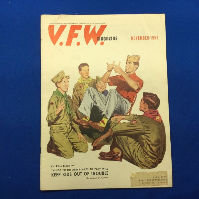 Boy Scout V.F.W. Magazine November 1953 Full Issue With Boy Scout Cover