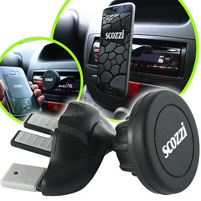 scozzi 360° universal KFZ CD Schlitz Halterung Magnet Halter Handy Navi PKW Auto (Handy-halter Cd-schlitz)