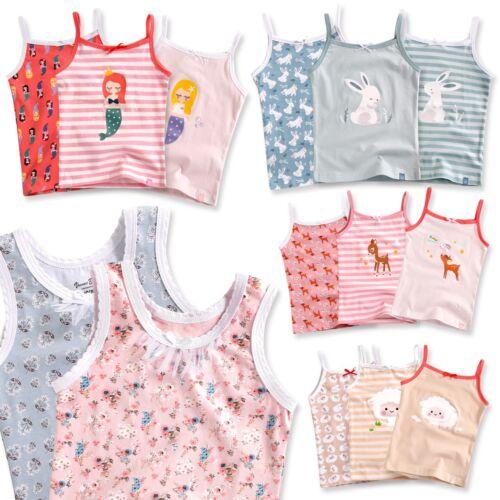 "Vaenait Baby Kids Girls 100% Cotton 3pcs Undershirts Set ""Tank Tops Cami"" 2-7T"