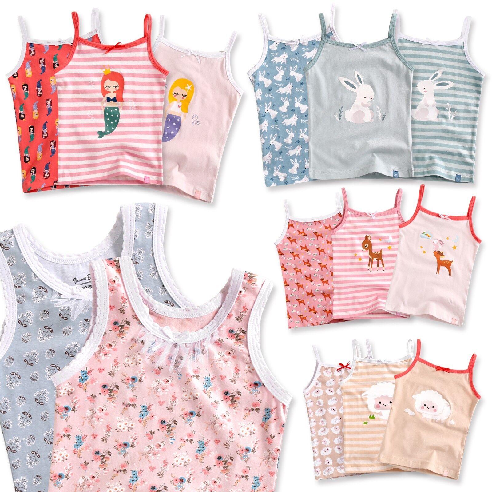 "Vaenait Baby Kids Girls 100% Cotton 3pcs Undershirts Set ""Ta"