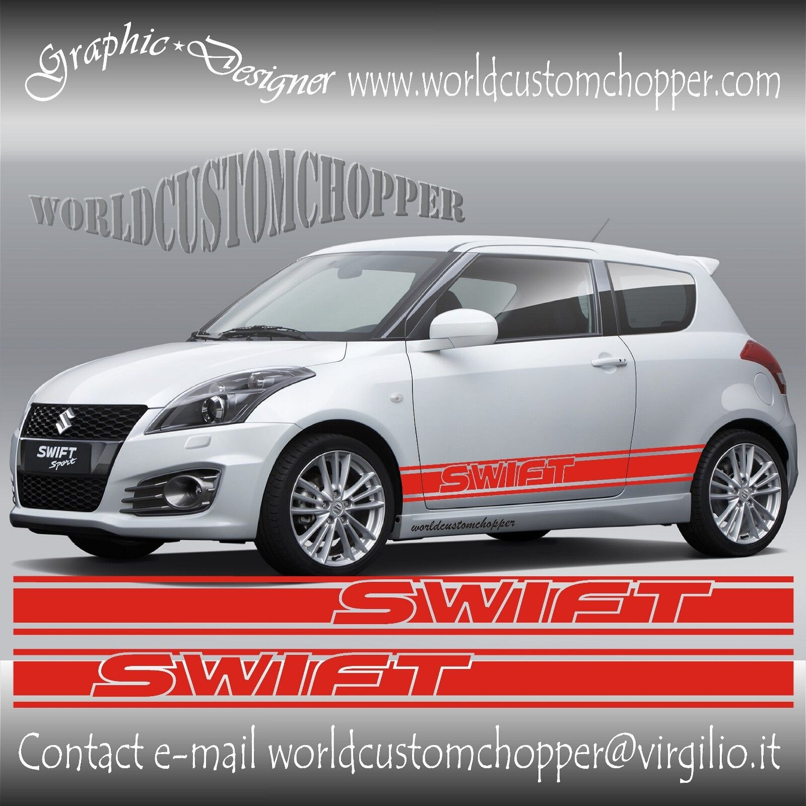 fasce adesive sotto porta suzuki swift sport auto tuning. Black Bedroom Furniture Sets. Home Design Ideas