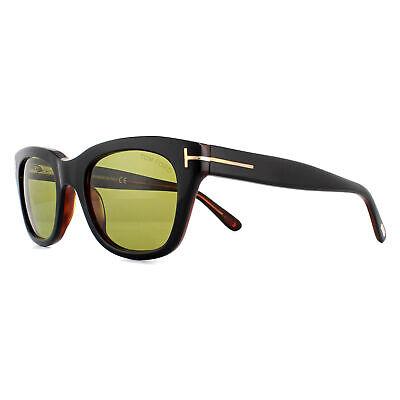 Tom ford Sonnenbrille 0237 Snowdon 05N Schwarz und Brauner Grün Gelb