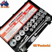 "21 PC 3/4"" Drive Socket Set Universal Star Wrench Spanner Ratchet Epping Whittlesea Area Preview"