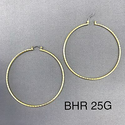 Hypo Allergenic 14K Yellow Gold Plated Twisted Shape 2.75