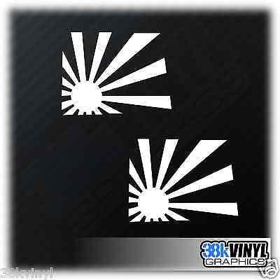 x2 RISING SUN Car/Window/Bumper JDM Drift JAP Japanese Vinyl Decals Sticker