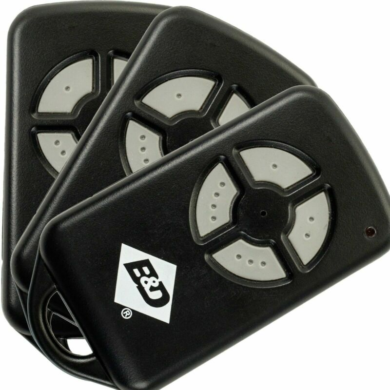 B&D PTX4 059116 059120 CAD-601 Genuine & Original Garage Gate Remote Control x3