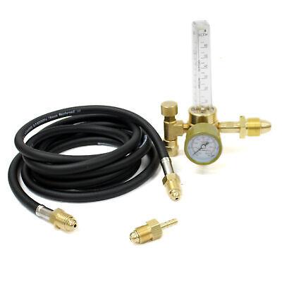 Argon Mig Tig Co2 Flow Meter Regulator With 10 Ft Hose For Welding Weld Gauge